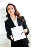 bizneswomanu charyzmatyczny schowka latynos Zdjęcia Royalty Free