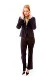 Bizneswomanu cierpienie Od migreny obrazy royalty free