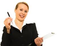 bizneswomanu dokumentu znak Fotografia Stock