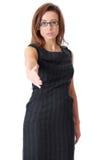 bizneswomanu elegancki gest odizolowywający powitanie Obraz Royalty Free