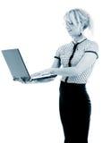 bizneswomanu energiczny monochromatyczny portret fotografia stock