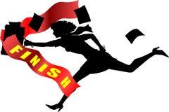 bizneswomanu finishline Zdjęcie Royalty Free