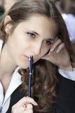 bizneswomanu główkowanie Zdjęcie Stock