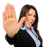 bizneswomanu gesta ładna przerwa Zdjęcia Stock