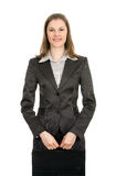 bizneswomanu ja target666_0_ zdjęcia stock