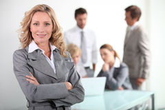 bizneswomanu ja target743_0_ Obrazy Stock