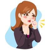 Bizneswomanu Kasłać royalty ilustracja