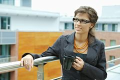 bizneswomanu kawy target437_0_ Obraz Stock
