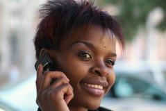 bizneswomanu komórkę Zdjęcie Royalty Free
