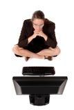 bizneswomanu komputer Fotografia Stock