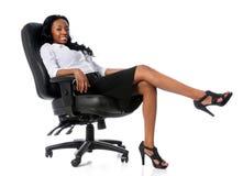 bizneswomanu krzesło zdjęcie royalty free