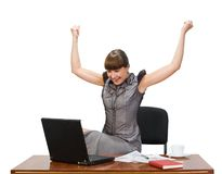 bizneswomanu laptop Fotografia Stock