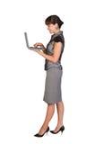 bizneswomanu laptop Zdjęcia Royalty Free