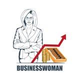 Bizneswomanu logo Obrazy Stock