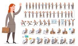 Bizneswomanu lub kierownika charakteru tworzenia duży set Różny v Obraz Royalty Free