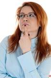 Bizneswomanu młody główkowanie Obrazy Stock