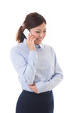 Bizneswomanu młody telefon Zdjęcia Stock