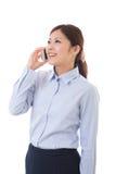 Bizneswomanu młody telefon Obraz Royalty Free
