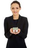 Bizneswomanu mienia domu model Obraz Stock