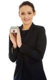 Bizneswomanu mienia domu model Zdjęcie Stock