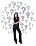bizneswomanu ocen pytanie Zdjęcia Stock