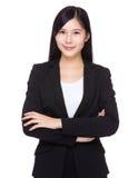bizneswomanu odosobniony portreta biel Obrazy Royalty Free