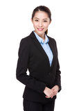bizneswomanu odosobniony portreta biel Fotografia Stock