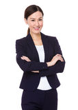 bizneswomanu odosobniony portreta biel Zdjęcia Royalty Free