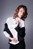 bizneswomanu piękny studio Zdjęcie Royalty Free