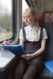 bizneswomanu pociąg Obraz Stock
