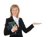bizneswomanu pomyślny szczęśliwy Zdjęcie Royalty Free