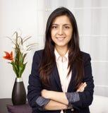 Bizneswomanu portret ono uśmiecha się Fotografia Stock