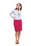 Bizneswomanu przyglądający up Zdjęcie Royalty Free