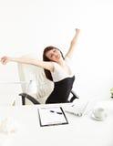Bizneswomanu rozciąganie Zdjęcia Stock