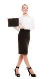 Bizneswomanu seansu dokumentu skrzynka Zdjęcia Royalty Free