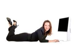bizneswomanu surfing obraz stock