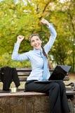 bizneswomanu szczęście Zdjęcia Stock
