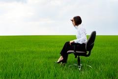 bizneswomanu target16_0_ przedni Zdjęcie Stock