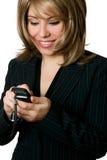 bizneswomanu telefonów obraz royalty free
