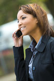 bizneswomanu telefon Obrazy Royalty Free