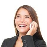 bizneswomanu telefonu target614_0_ Zdjęcie Royalty Free