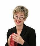 bizneswomanu uśmiecha się Zdjęcia Stock