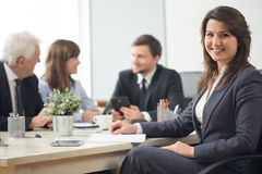 bizneswomanu uśmiecha się Zdjęcie Royalty Free