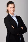 bizneswomanu uśmiecha się piękny taniec para strzału kobiety pracowniani young Zdjęcia Royalty Free