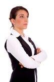bizneswomanu widok przyglądający boczny oddolny zdjęcie stock