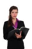 Bizneswomanu writing Obraz Stock