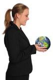 bizneswomanu ziemscy mienia planety potomstwa Obraz Royalty Free