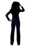 bizneswomanu zmieszanego portreta tylni widok Obraz Stock