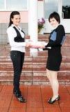 bizneswomany szczęśliwi dwa Zdjęcie Stock