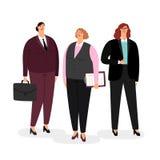 Bizneswomany ustawiający na bielu royalty ilustracja
